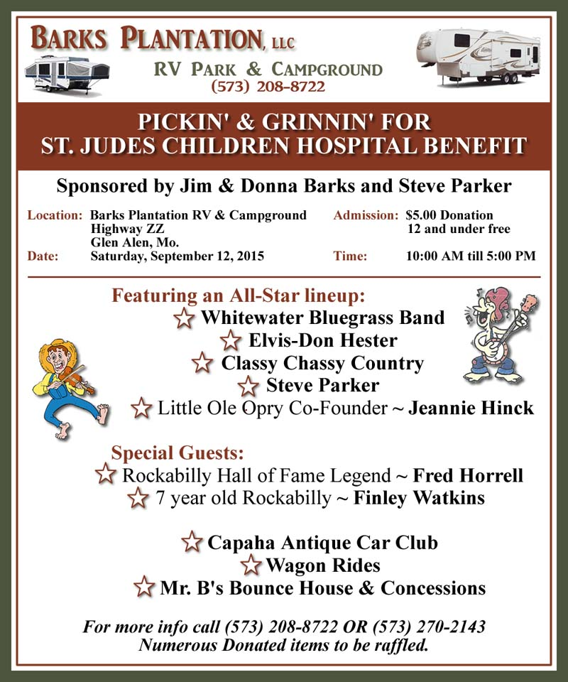 Pickin' & Grinnin' for St. Jude's Children Hospital